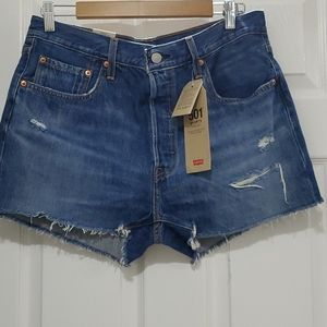 LEVI'S 501 HIGHRISE RAW HEM SHORTS